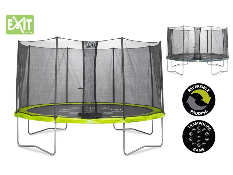Exit Toys Trampoline Twist 14 ft (groen/grijs)