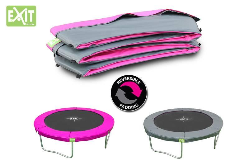 Exit Toys Trampoline Twist 14 ft (roze/grijs)