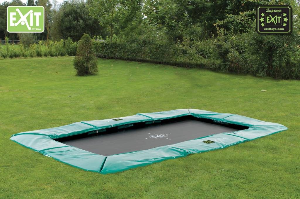 Exit Toys Trampoline Supreme Ground Level 244x427 cm