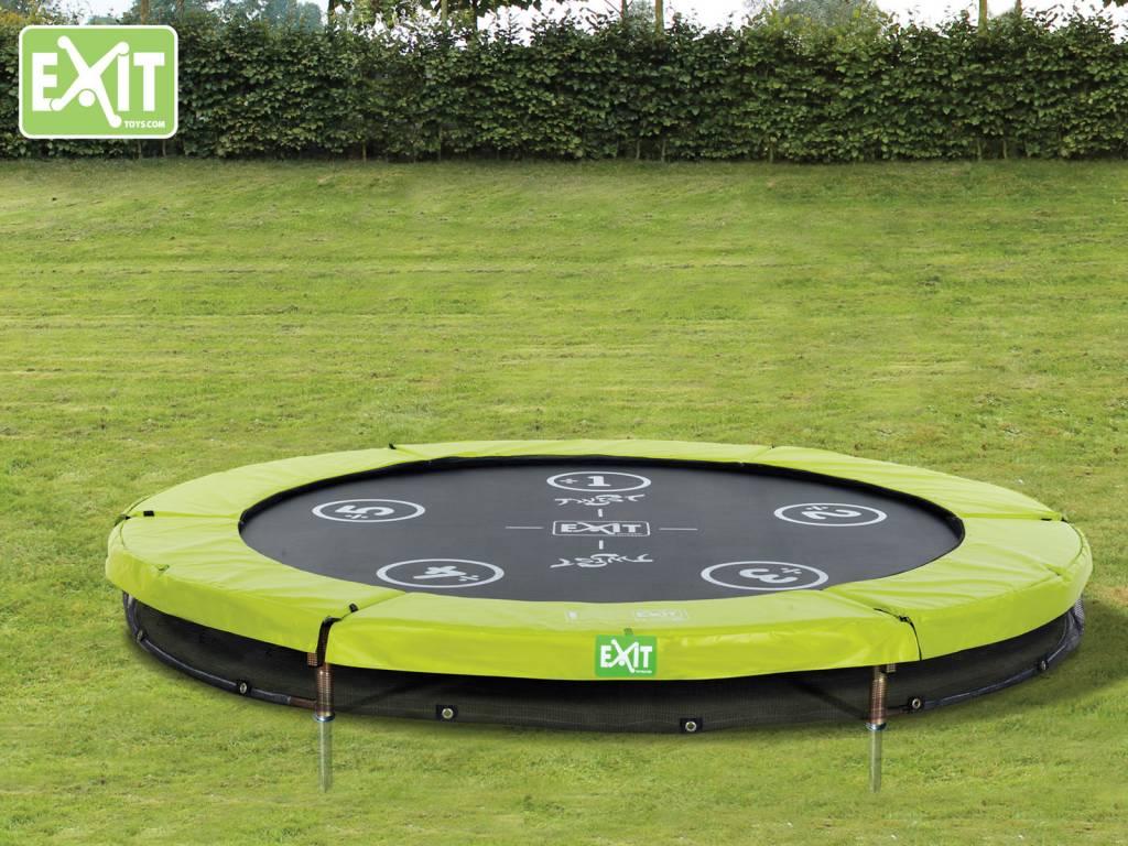 Exit Toys Trampoline Twist Inground 08 ft (groen/grijs)