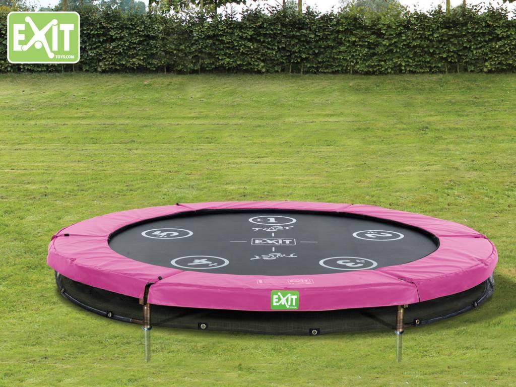 Exit Toys Trampoline Twist Inground 08 ft (roze/grijs)