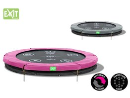 Exit Toys Trampoline Twist Inground 06 ft (roze/grijs)