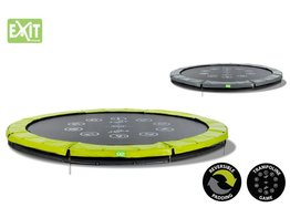 Exit Toys Trampoline Twist Inground 10 ft (groen/grijs)