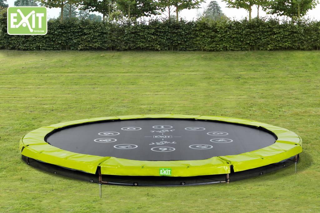 Exit Toys Trampoline Twist Inground 10 ft (groen/grijs)