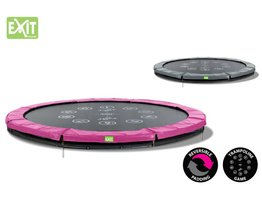 Exit Toys Trampoline Twist Inground 10 ft (roze/grijs)