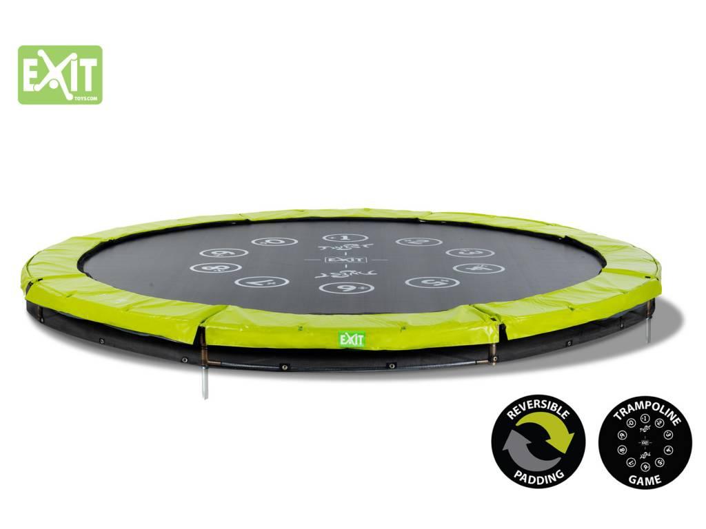 Exit Toys Trampoline Twist Inground 12 ft (groen/grijs)