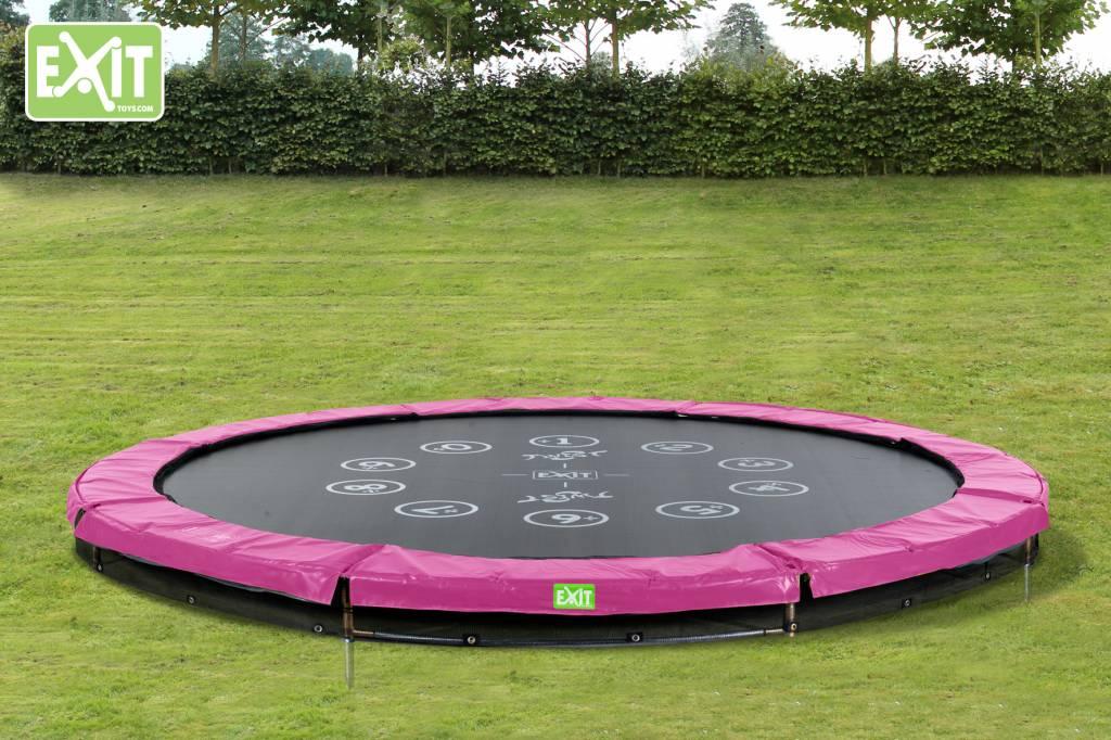 Exit Toys Trampoline Twist Inground 12 ft (roze/grijs)