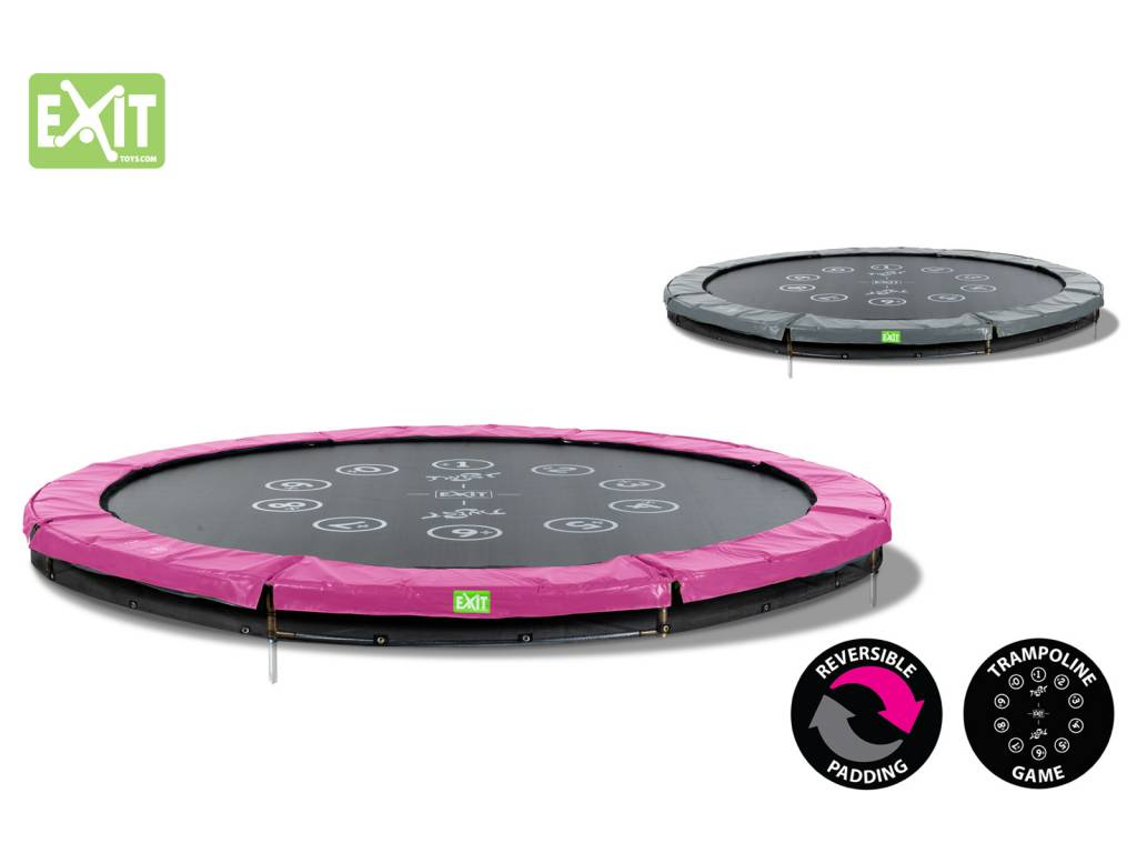 Exit Toys Trampoline Twist Inground 14 ft (roze/grijs)