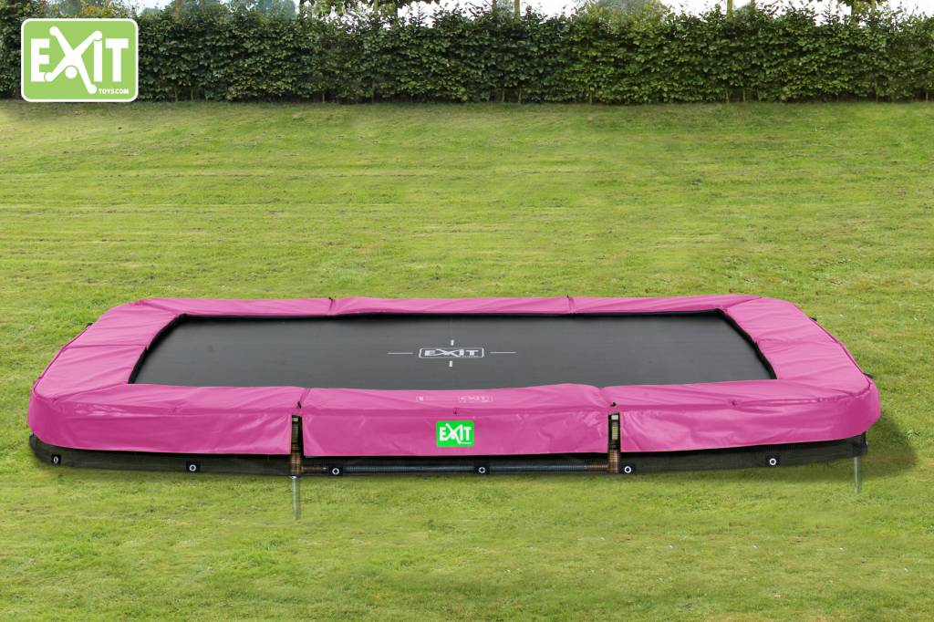 Exit Toys Trampoline Twist Inground 214x305 (roze/grijs)