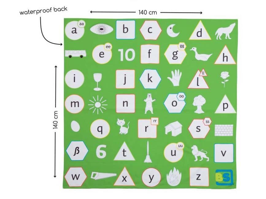 Buitenspeel Picknickkleed Alfabet