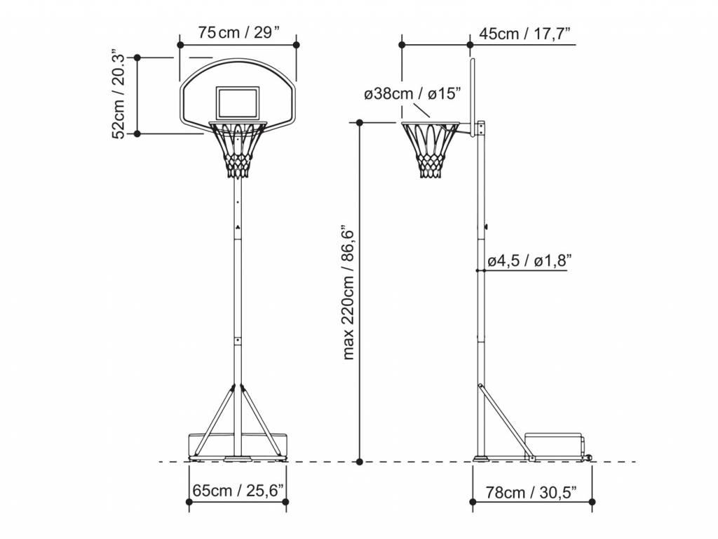 Exit Toys Basketbalpaal Hoopy Junior