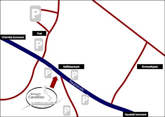 Parkplätze bei Reitsport Cavallino