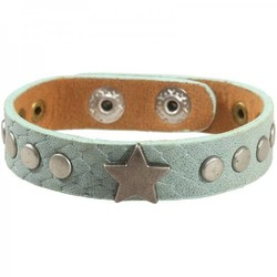 Mintgroene armband met ster