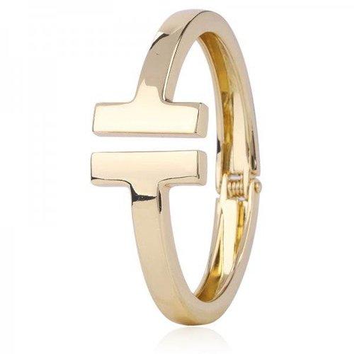 Goud open armbandje