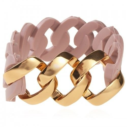 Armband rubber oud roze