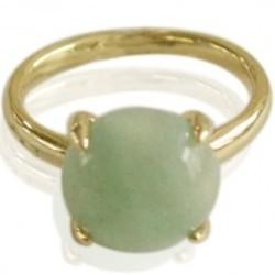 Fashion ring met groene steen 18