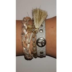 Hippe armbanden set
