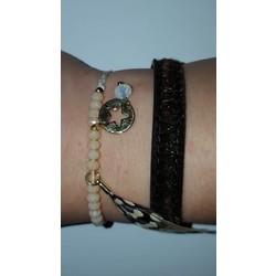 Armbanden set goud bruin