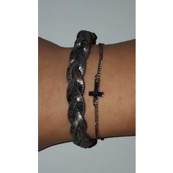 Gevlochten armbanden set