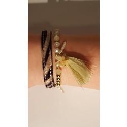Dierenprint armbanden set