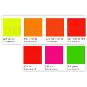 ORACAL® 6510 Fluorescente cast folie 150 mu, 1,26 cm breed