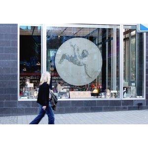 ASLAN DFL-300 Bedrukbare glasdecoratiefilm met een geëtste glazen look , dry apply - 137 cm