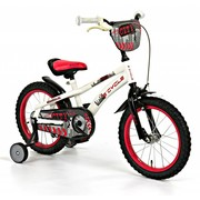 2Cycle Kinderfiets 16 inch City Wit-rood