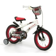 2Cycle Kinderfiets 14 inch City Wit-rood