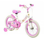 2Cycle Kinderfiets 16 inch Sunflower Wit-Roze