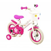 2Cycle Kinderfiets 12 inch Coolbike Wit-roze