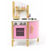 P&M Houten Kinderkeuken Wit-Roze