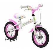 2Cycle Loopfiets Wit-Roze met Luchtbanden