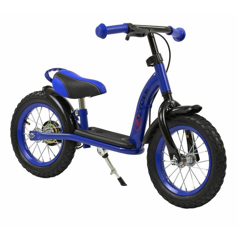 2Cycle Loopfiets Blauw DeLuxe met Luchtbanden (1365)
