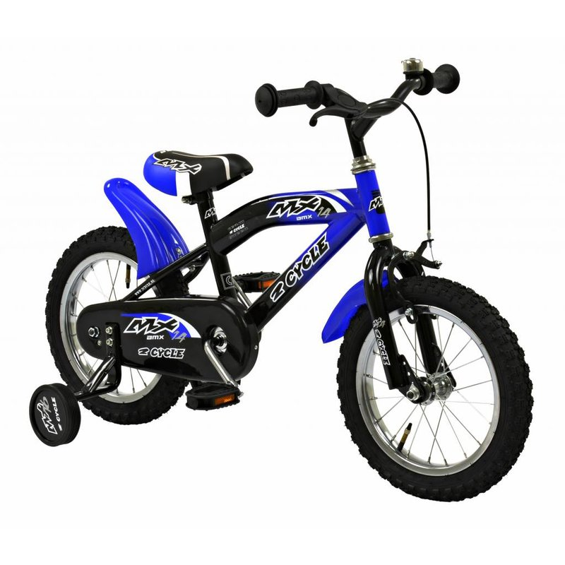 2Cycle Jongensfiets 14 inch MX blauw (1410)