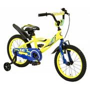 2Cycle Jongensfiets 16 inch BMX blauw-geel