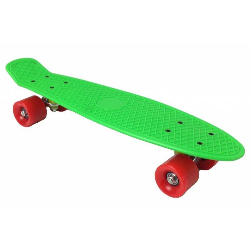 2Cycle Skateboard Groen-Rood 22,5 inch (3104)