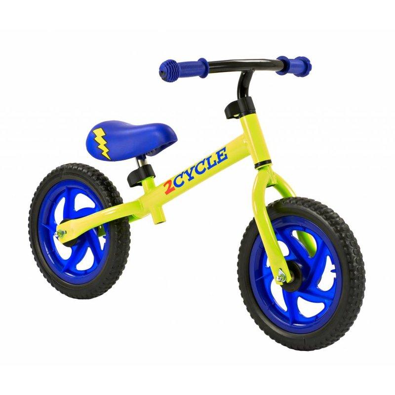 2Cycle Loopfiets 12 inch blauw-geel (1573)