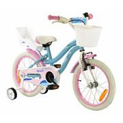 2Cycle Meisjesfiets 16 inch Blauw-Roze met Poppenzitje