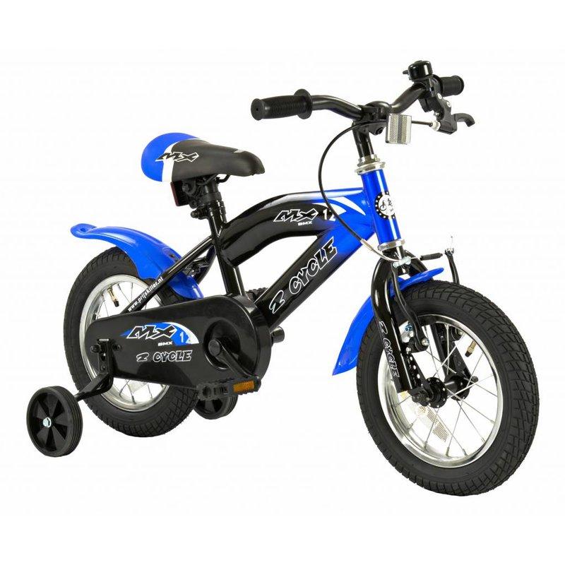 2Cycle Jongensfiets 12 inch MX blauw (1210)