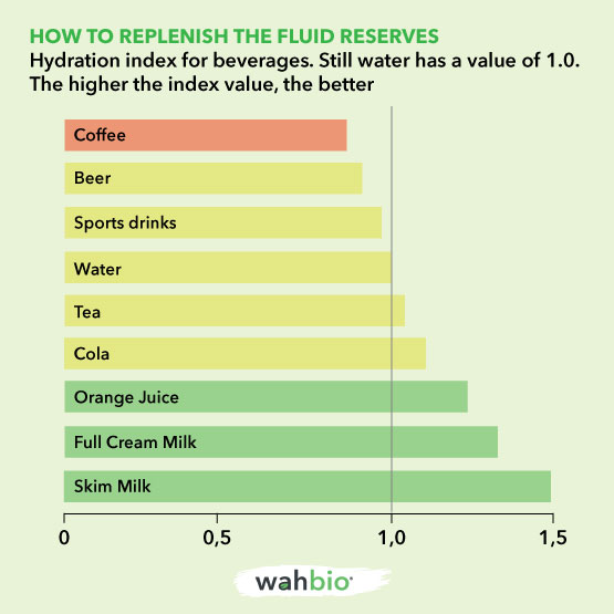 Rehydration index of fluids