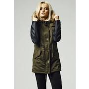 Urban Classics Ladies Leather Imitation Sleeve Parka