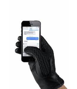MUJJO Leather Crochet Touchscreen Handschuhe