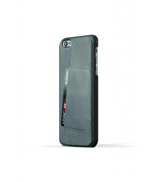 MUJJO Leder Wallet Case 80° für iPhone 6(s) Plus Grau
