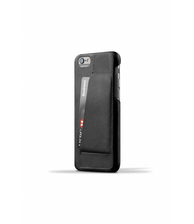 MUJJO Leather Wallet Case 80° for iPhone 6(s) Black