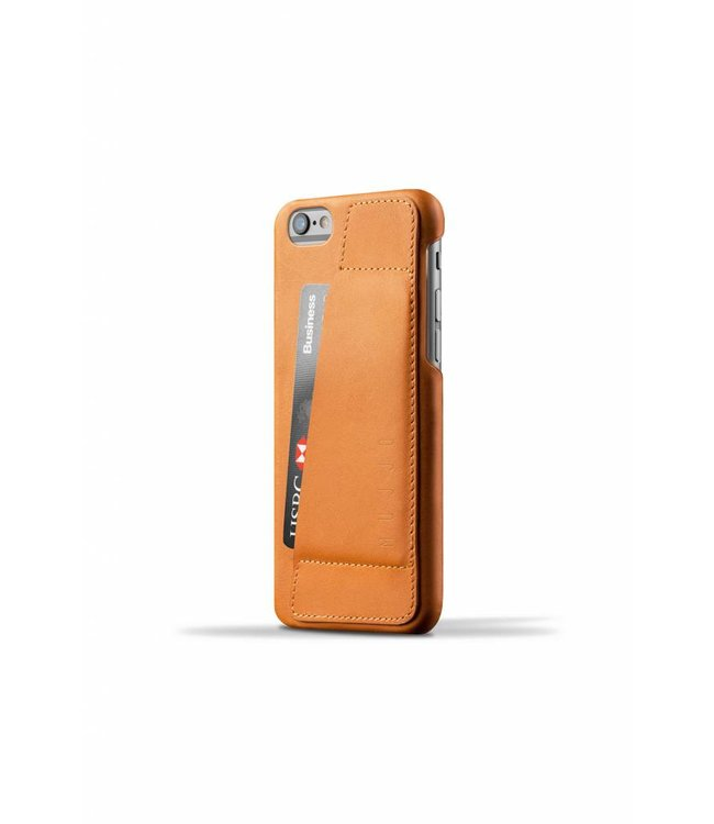 MUJJO Leder Wallet Case 80° für iPhone 6(s) - Tan