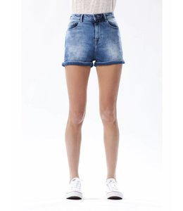 COJ Marilyn Medium Blue High Waisted Shorts
