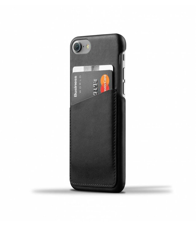 MUJJO Leather Wallet Case for iPhone 7 - Black