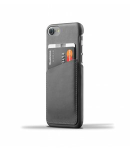 MUJJO Leder Wallet Case für iPhone 7 - Grau