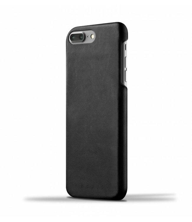 MUJJO Leder Hülle für iPhone 7 Plus - Schwarz