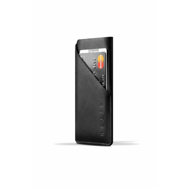 Leather Wallet Sleeve for iPhone 7 - Black